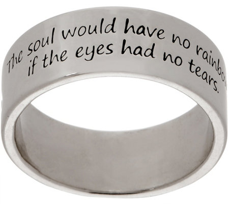 American West Sterling Silver Wisdom Message Band Ring