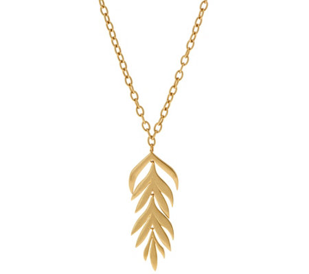 Tropical Leaf Pendant Necklace