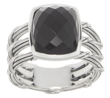 Peter Thomas Roth Sterling Silver & Black Chalcedony Ring