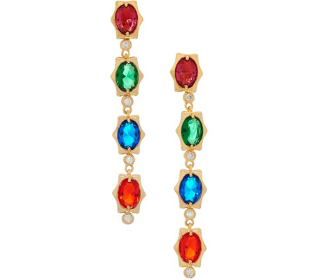 Heritage Jewelry Simulated Gemstone Linear Earrings