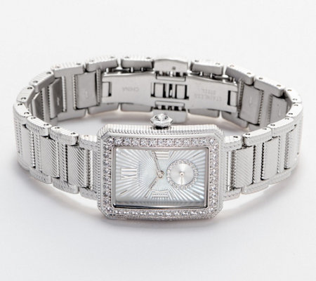 Judith Ripka Stainless Steel Monte Carlo Watch