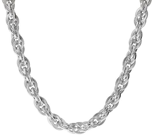 "Judith Ripka Verona 18"" Triple Link Sterling Silver Necklace"