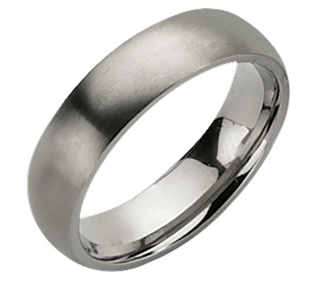 Titanium 6mm Brushed Ring