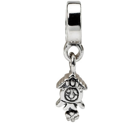 Prerogatives Sterling Cuckoo Clock Dangle Bead