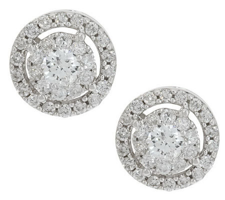 Diamond Round Halo Stud Earrings 14k 1 00 Cttw By Affinity