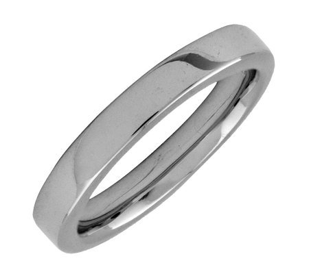 Simply Stacks Sterling Black Rhodium-Plated 3.25mm Smooth Ring