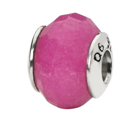 Prerogatives Sterling Fuchsia Quartz Gemstone Bead