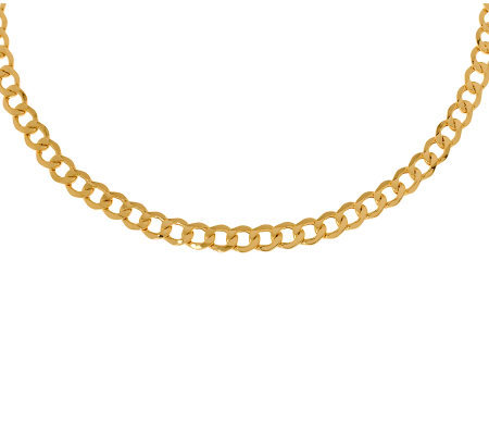 "22"" Polished Curb Link Necklace, 14K Gold14.20g"