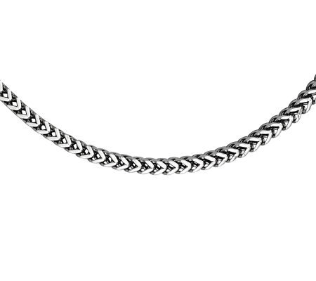 "Stainless Steel 4.0mm 24"" Wheat Chain Necklace"