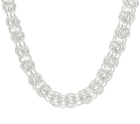 "Sterling Silver Rosetta Fancy Woven 20"" Necklace, 47.50 grams"