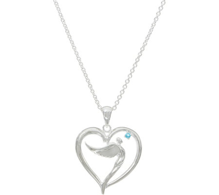 Sterling Silver Soaring Angel Pendant with Chain by Steven Lavaggi