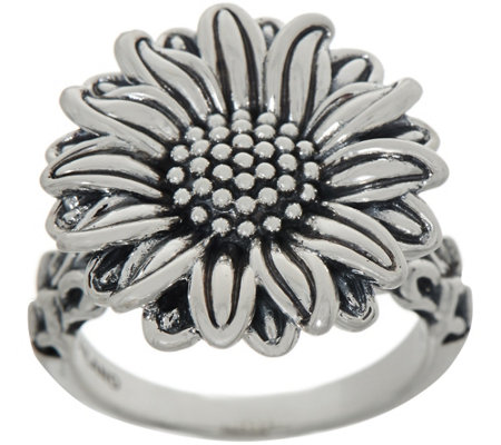 JAI Sterling Silver Olive's Sunflower Ring