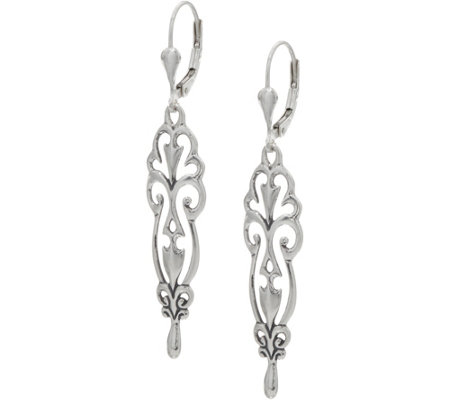 Carolyn Pollack Sterling Silver Country Couture Dangle Earrings