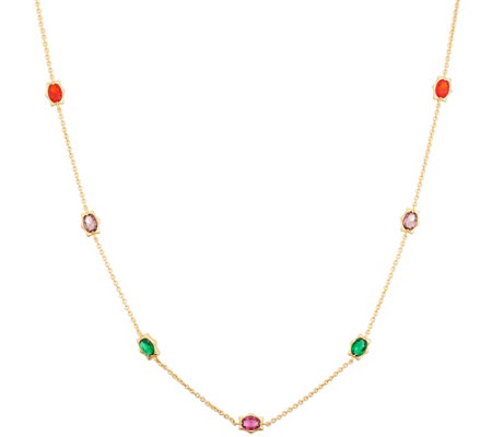 "Heritage Jewelry Simulated Gemstone 36"" Necklace"