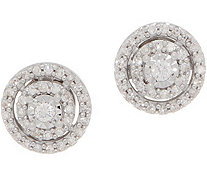 Affinity Diamond 1/5cttw Miracle Plate Stud Earrings, Sterling - J358192