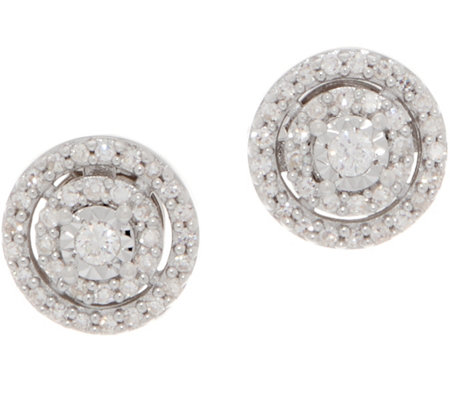 Affinity Diamond 1 5cttw Miracle Plate Stud Earrings Sterling