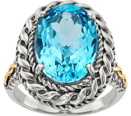 Sterling 14k Oval Gemstone Ring