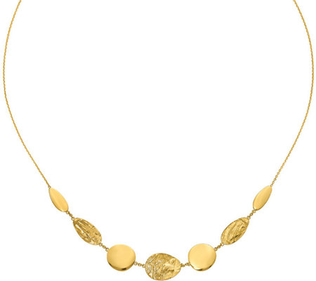 14K Disc Necklace, 5.2g