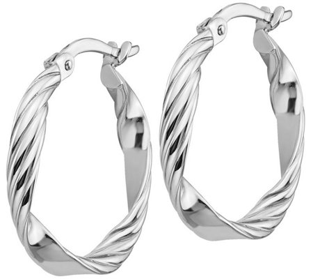 14K Gold Petite Twisted Hoop Earrings, 1.4g