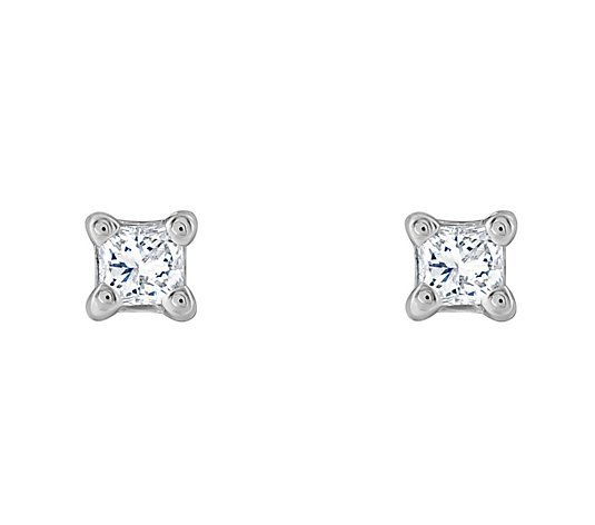 Affinity 14K 1/10 cttw Princess-Cut Diamond Stud Earrings