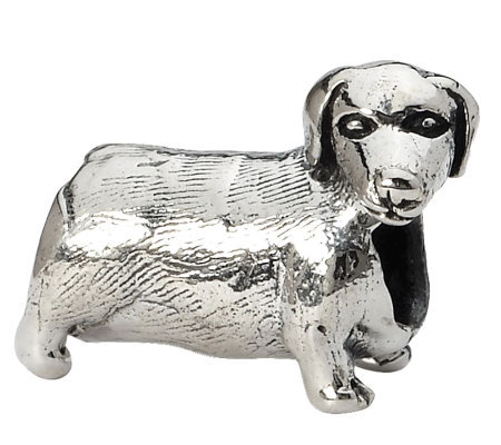 Prerogatives Sterling Dachshund Bead