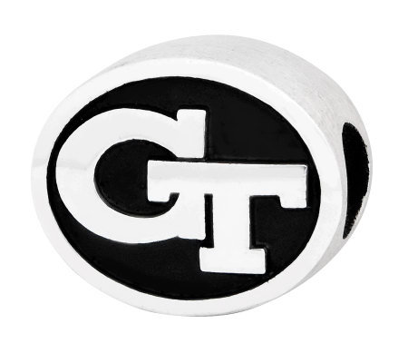 Sterling Silver Georgia Tech Bead