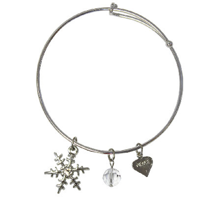 Catherine Galasso Snowflake Bangle Bracelet