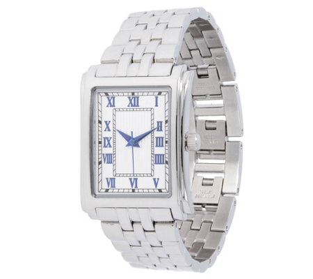 Steel by Design Square Panther Link Watch