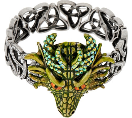 Kirks Folly Thor Dragon Celtic Knot Stretch Bracelet