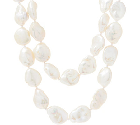 "Stephen Dweck Sterling Silver 36"" Pearl Strand Necklace"