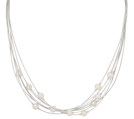 Honora Cultured Pearl Multi-strand Sterling Necklace