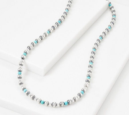"American West Sterling Silver Gemstone Bead 24"" Necklace"