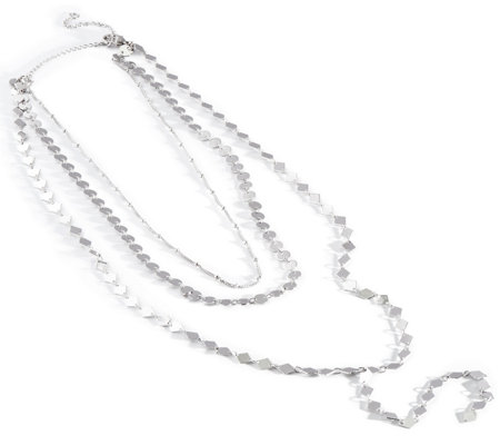 Glittering Sunrise Triple Strand Y-Necklace