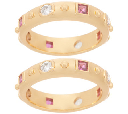 Heritage Jewelry Set of 2 Simulated Gemstone Rings