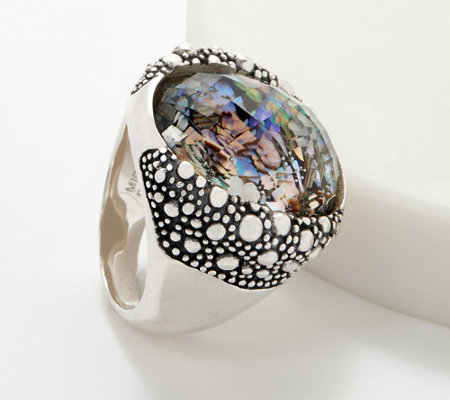 Michael Dawkins Sterling Silver Starry Night Triplet Ring