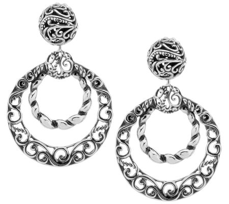 Carolyn Pollack Sterling Signature Dangle Earrings