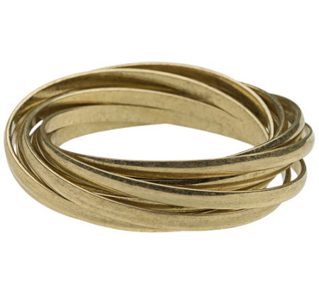 Linea By Louis Dell Olio Brass Ox Rolling Bangle
