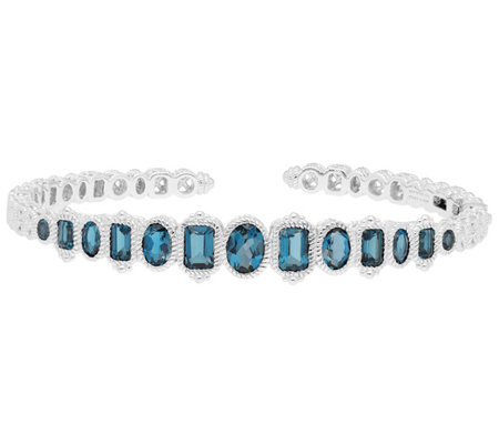 Judith Ripka Sterling 4 80 Cttw London Blue Topaz Cuff