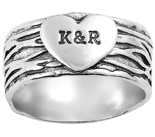 Or Paz Sterling Personalized Heart Ring