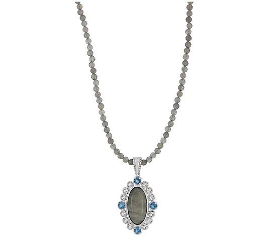 Generation Gems Gemstone Enhancer w/ Bead Necklace