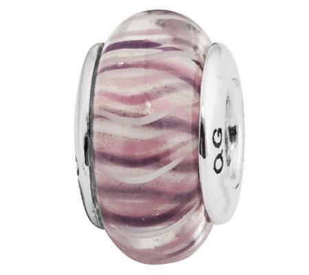 Prerogatives Sterling Translucent Purple Glassbead
