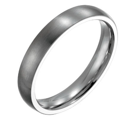Forza Men's 4mm Steel Brushed Ring