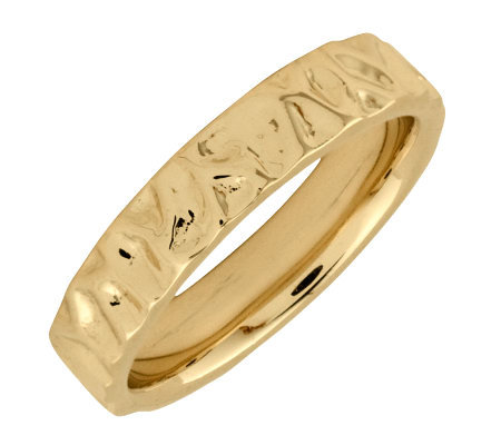Simply Stacks Sterling 18K Yellow Gold-Plated Wave 4.25mm Ring