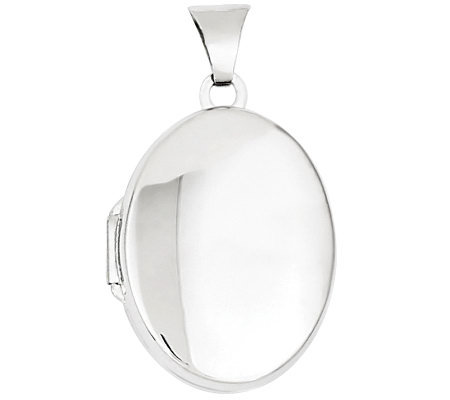Sterling Polished Oval Double-Frame Locket