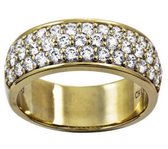 Diamonique Pave Band Ring Sterling Or 14k Clad J312094