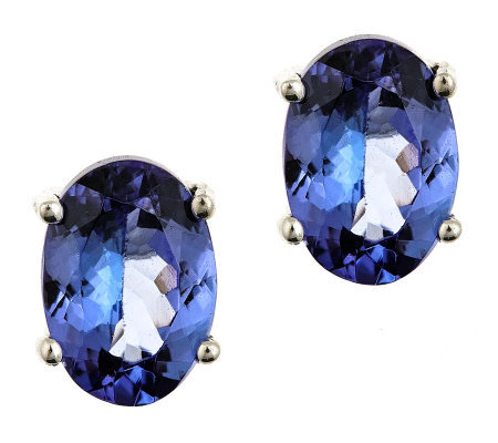 1.25 ct tw Oval Tanzanite Earrings, 14K Gold