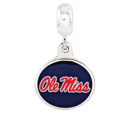 Sterling Silver University of Mississippi Dangle Bead