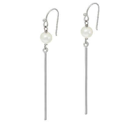 Honora Cultured Pearl 6.0mm Sterling Stick Earrings