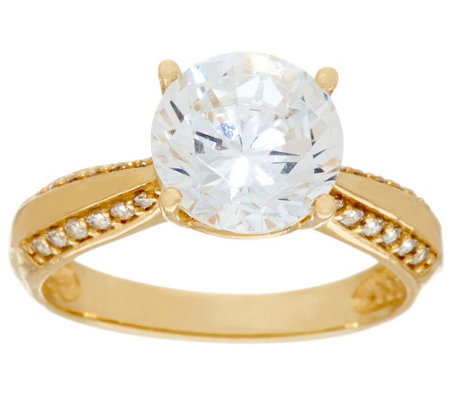 """As Is"" Diamonique 3.00 ct Solitaire Ring, 14K"