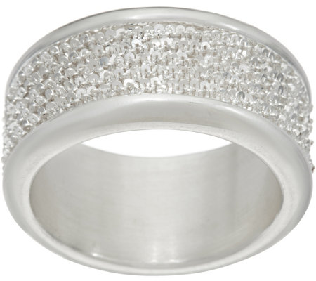 UltraFine Silver Margherita Chain Polished Band Ring